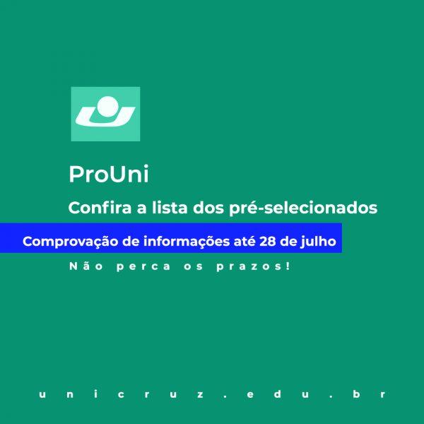 Pré-selecionados ProUni