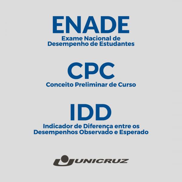 Enade, CPC e IDD