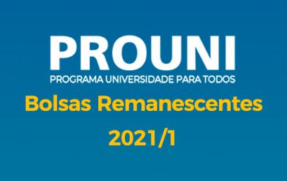 PROUNI 2021/1 – Vagas Remanescentes