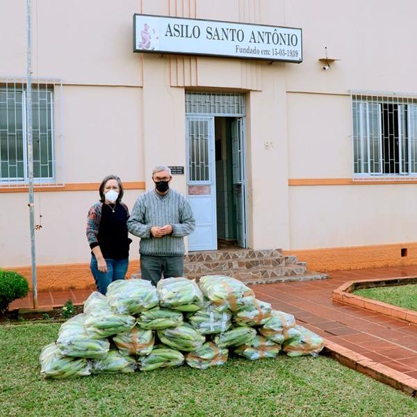 Doação de milho verde